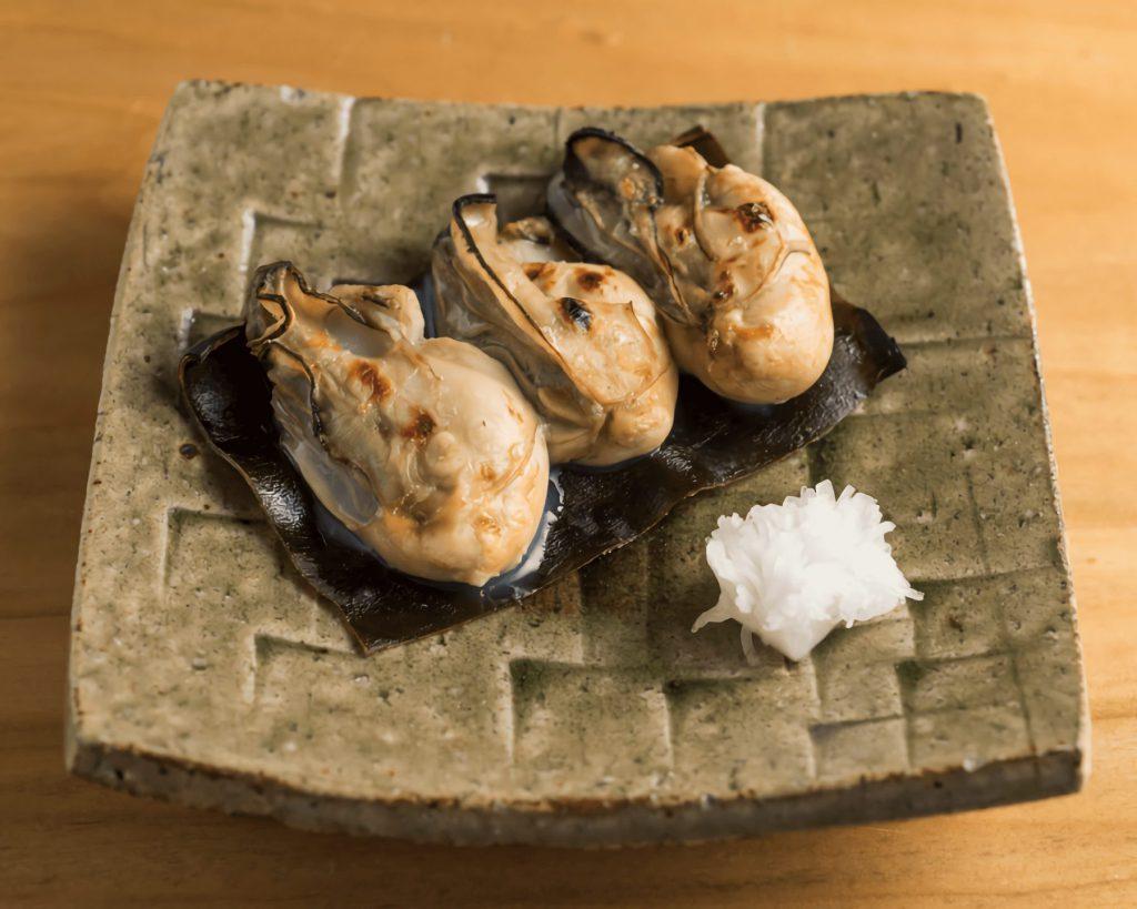 牡蠣松前焼き
